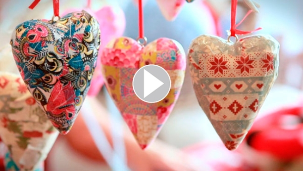 Heart tree decoration Craft | Vicky Harrison | Housetohome