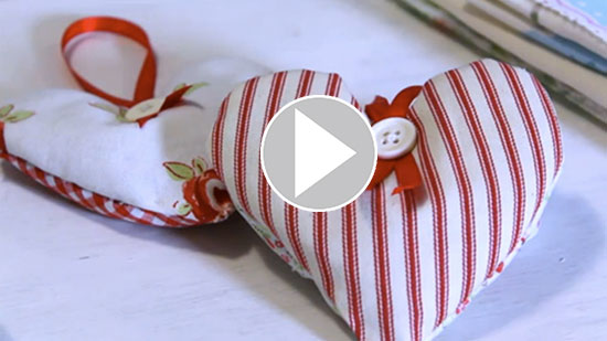 How to make a lavender heart | Craft | Vicky Harrison